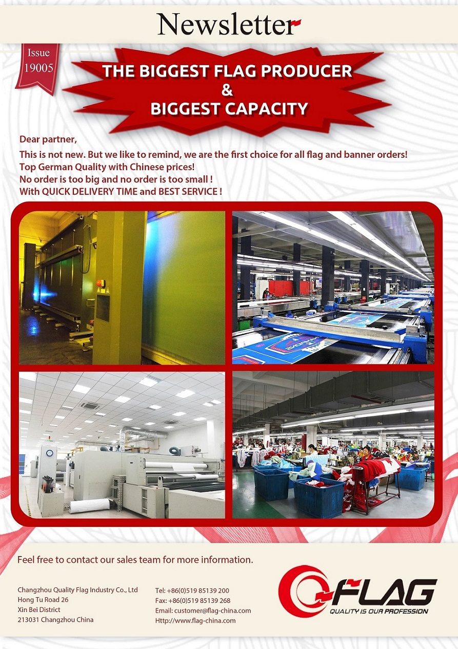 Biggest Flag Producer & Biggest Capacity